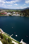 Slovenia - View of Bled lake and town from the castle - photo by I.Middleton
