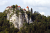 Slovenia - Bled castle on cliff overlooking Lake Bled - photo by I.Middleton