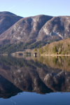 Slovenia - Mountains reflected in Bohinj Lake - photo by I.Middleton