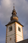 Slovenia - Ribcev Laz - church tower of the church of St John - Bohinj Lake - photo by I.Middleton