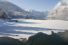 Slovenia - Bohinj Lake / Wocheinersee starting to freeze over - photo by I.Middleton