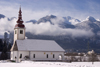 Slovenia - church of Assumption of Mary in Bitnje- Bohinjska Bistrica - Bohinj Valley - photo by I.Middleton