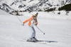 Slovenia - blond girl skiing on Vogel mountain in Bohinj - photo by I.Middleton