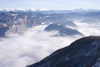 Slovenia - View of Lake Bohinj covered with clouds from Vogel Mountain ski resort - photo by I.Middleton