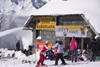 Slovenia - pizzeria and skiers on Vogel mountain in Bohinj - photo by I.Middleton