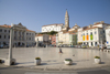 Slovenia - Piran - Slovenian Istria region: Tartinijev square, named after composer and violinist Giuseppe Tartini - photo by I.Middleton
