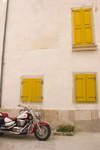 Slovenia - Piran: motorbike and old façade - photo by I.Middleton