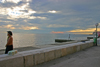 Slovenia - Piran: promenade at sundown, Adriatic coast - photo by I.Middleton