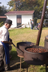 Slovenia - Jance: roasting chestnuts - Chestnut Sunday festival - photo by I.Middleton