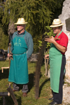 Slovenia - Jance: woodcutters - Chestnut Sunday festival - photo by I.Middleton