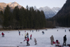 Slovenia - Jezersko / Gemeinde Seeland - Upper Carniola / Gorenjska region: Frozen lake - on the Austrian border high up in the Kamnik Alps - photo by I.Middleton