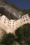 Predjama castle and the limestone cliff - Renaissance fortification, Slovenia - photo by I.Middleton