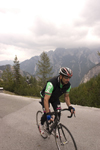 Slovenia - Julian Alps as a cyclist races on Vrsic pass - photo by I.Middleton