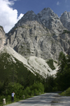 Slovenia - peaks of the Julian Alps seen from Vrsic pass - photo by I.Middleton