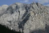 Slovenia - view of the Julian Alps from Vrsic pass - rocky scarps - photo by I.Middleton