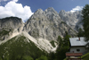 Slovenia - peaks of the Julian Alps from Vrsic pass - Koca Na Godzu 1226 m - photo by I.Middleton