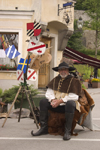 Slovenia - Kamnik Medieval Festival - coats of arms for all tastes - photo by I.Middleton