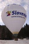 Hot air balloon at the Golden fox, Womens world cup giant slalom, Kranjska Gora, Podkoren, Slovenia - photo by I.Middleton