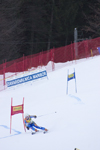 skier passing a gate - Golden fox, Womens world cup giant slalom, Kranjska Gora, Podkoren, Slovenia - photo by I.Middleton