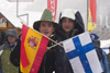 Finn and Spaniard - spectators at Planica ski jumping championships, Slovenia - photo by I.Middleton