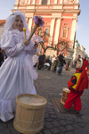 Slovenia - Ljubliana: Pust celebrations - fairy and the Franciscan church - photo by I.Middleton