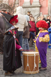 Slovenia - Ljubliana: Pust celebrations - clown and witches - photo by I.Middleton