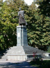 South Ossetia - Tskhinvali: Kosta Khetagurov / Konstantin Khetagati monument - national poet of the Ossetian people - photo by Reva
