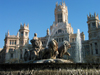 Spain / Espa�a - Madrid: Palace of Communications and Cibeles fountain - photo by A.Hernandez