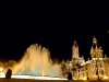 Spain / España - Valencia: Plaza de Ayuntamiento - fountain - nocturnal (photo by M.Bergsma)