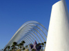 Spain / España - Valencia:  L'Umbràcul / L'Umbracle - City of Arts and Science - modern architecture (photo by M.Bergsma)