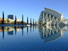 Spain / España Valencia: Prince Philip museum of Science - reflection / Museo de les Ciencies Princip Felip - Ciutat de les Arts i les Ciències (photo by M.Bergsma)