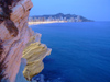 Spain - Benidorm - Playa de Levante - cliffs and skyline - photo by M.Bergsma