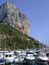 Spain - Calpe - Harbour and rock - photo by M.Bergsma