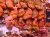 Spain - Valencia - Selling jamon serrano - photo by M.Bergsma