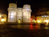 Spain - Valencia - Torres de Serranos - the entrance to the old city - nocturnal - photo by M.Bergsma