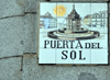 Madrid, Spain / Espa�a: Puerta del Sol sign in tiles  - photo by M.Torres