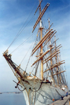 Spain / España - Huelva: friends from Murmansk - the Russian Navy tall ship Sedov