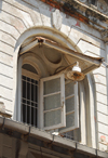 Colombo, Sri Lanka: window of a colonial building - Olcott Mw. - Pettah - photo by M.Torres