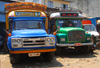 Colombo, Sri Lanka: Tata and Isuzu trucks near the Hamza building - Woodlands hotel - 4th Cross street - Pettah - photo by M.Torres
