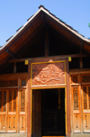 Colombo, Sri Lanka: Gangaramaya Temple - Japanese inspired wooden pavilion - Slave island - photo by M.Torres