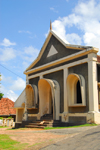 Galle, Southern Province, Sri Lanka: unusual architecture near St. Mary's catholic cathedral - photo by M.Torres