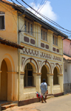 Galle, Southern Province, Sri Lanka: façade on Pedlar Street - Old Town - UNESCO World Heritage Site - photo by M.Torres