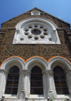 Galle, Southern Province, Sri Lanka: All Saints Church Fort-Galle - rose window - Church st - Old Town - UNESCO World Heritage Site - photo by M.Torres