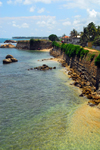 Galle, Southern Province, Sri Lanka: western ramparts - Triton bastion - Old Town - UNESCO World Heritage Site - photo by M.Torres