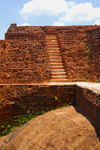 Sigiriya, Central Province, Sri Lanka: at the top - King Kasyapa palace fortress - bricks and rock - Unesco World Heritage site - photo by M.Torres