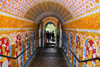 Kandy, Central province, Sri Lanka: entrance tunnel - Sri Dalada Maligawa - Temple of the Sacred Tooth Relic - photo by M.Torres