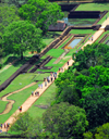 Sigiriya, Central Province, Sri Lanka: entrance gardens, seen from above - photo by M.Torres
