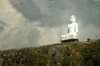 Sri Lanka - near Colombo: hillside Buddha statue - photo by B.Cain