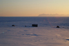 Svalbard - Spitsbergen island - Isfjorden: sunset - seen from Hiorthhamn - photo by A. Ferrari