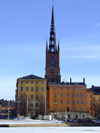 Stockholm, Sweden: Riddarholmen seen from the ice - photo by M.Bergsma